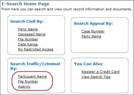 Search Traffic/Criminal
